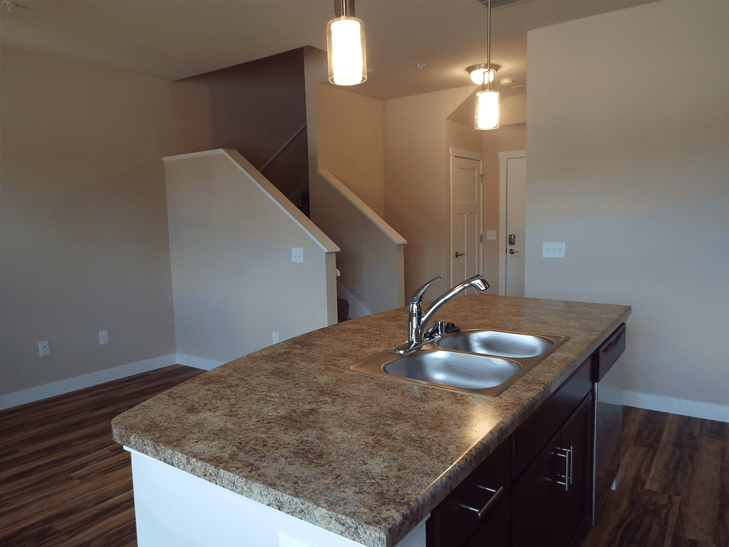 Townhomes kitchen Sink area