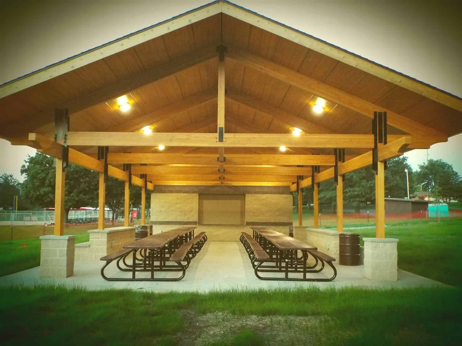 New Park Shelter Seating Area
