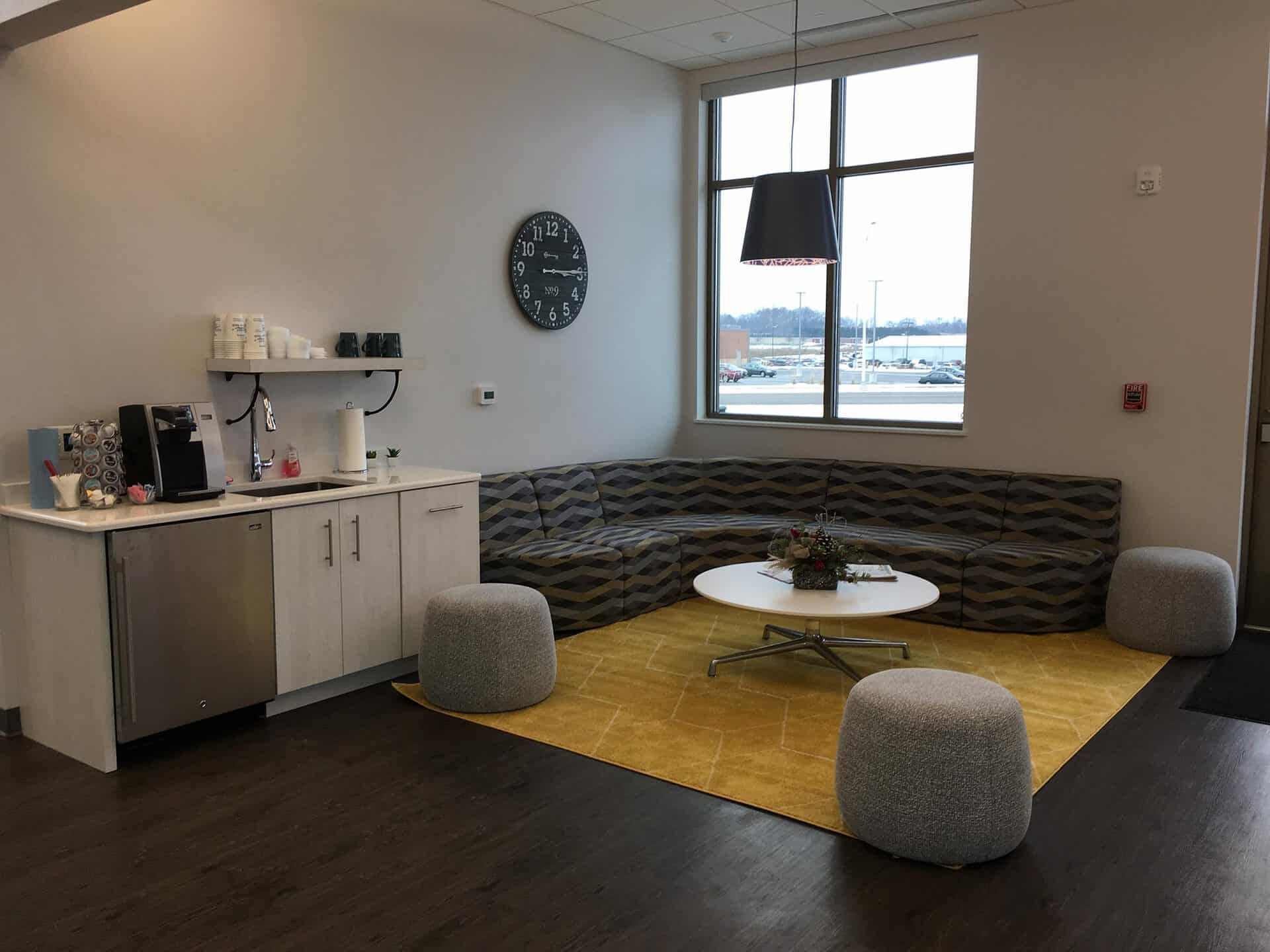 McFarland State Bank lounge area